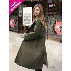BBAEBBAE - Wide-Lapel Double-Breasted Long Coat