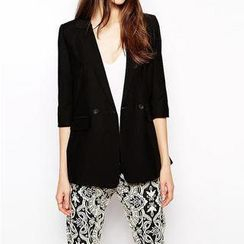 Richcoco - Elbow-Sleeve Blazer