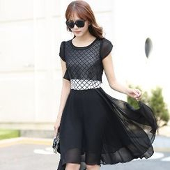 Romantica - Set: Plaid Dress + Top