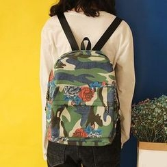 Bolso - Floral Print Camouflage Backpack