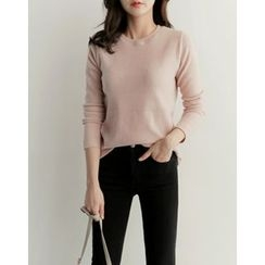 UPTOWNHOLIC - Round-Neck Knit Top