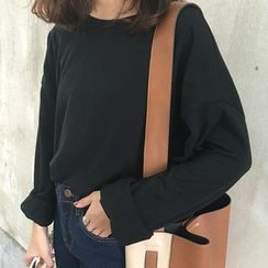 Dute - Drop Shoulder Long Sleeve T-Shirt