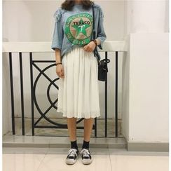 MATO - Pleated Chiffon Skirt