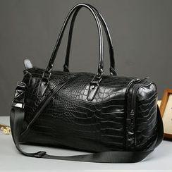 BagBuzz - 鱷魚壓紋人造皮手提包