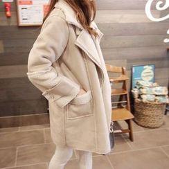 Angel Shine - Faux Suede Fleece Lined Jacket