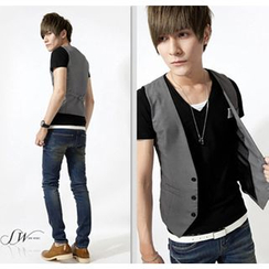 Bay Go Mall - Plain Slim-fit Vest