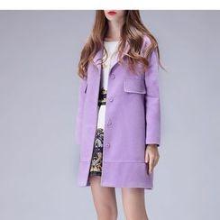 Mariposa - 長款平駁領大衣