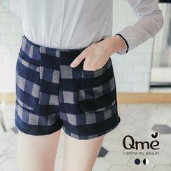 Tokyo Fashion - Check Woolen Shorts