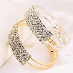 Cheermo - Rhinestone Open Bangle