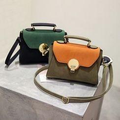 Secret Garden - Color Block Shoulder Bag