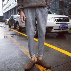 子俊 - 人造麂皮哈倫褲