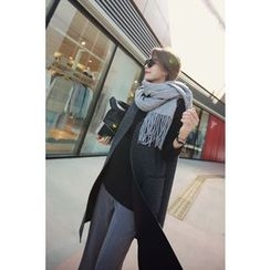 Momnuri - Maternity Dual-Pocket Long Vest