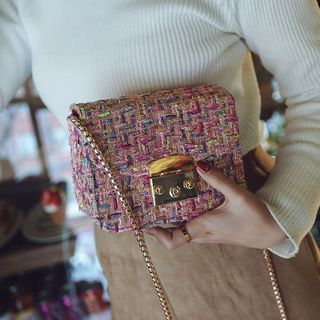 Aishang - Tweed Crossbody Bag
