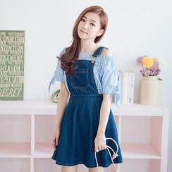 Tokyo Fashion - Denim Suspender Dress