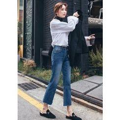 Chlo.D.Manon - Fray-Hem Boot-Cut Jeans