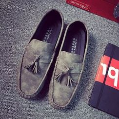 Solejoy - Faux-Suede Tasseled Loafers