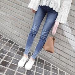 mimi&didi - Fray-Hem Gradient Skinny Jeans