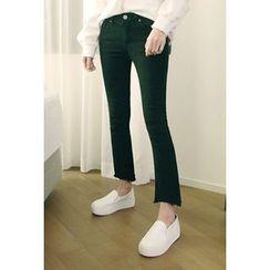ATTYSTORY - Boot-Cut Plain Pants