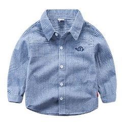 DEARIE - Kids Gingham Long-Sleeve Shirt
