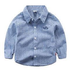 DEARIE - 兒童格子長袖襯衫