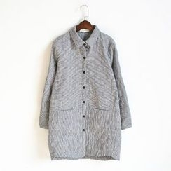 Waypoints - Pinstriped Quilted Long Shirt