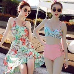 Sweet Splash - Set: High Waist Bikini + Dress