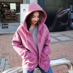 DABAGIRL - Brushed-Fleece Lined Colored Hoodie