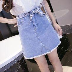 Cottony - Washed Denim Skirt