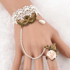 Trend Cool - Mask Accent Crochet Ring Bracelet