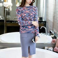 NINETTE - Set: Sweater + Knit Skirt