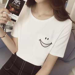 YOSH - Smiley Face Short-Sleeve T-Shirt