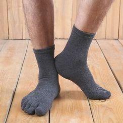 Abarana - 純色鞋頭襪子