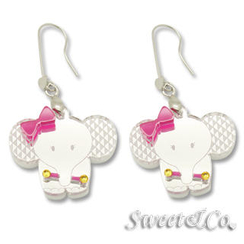 Sweet & Co. - Sweet Rainbow Crystals Baby Elephant Silver earrings