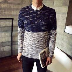 Harvin - Melange Color Block Sweater