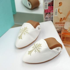 幸福鞋坊 - 真皮刺繡平底鞋