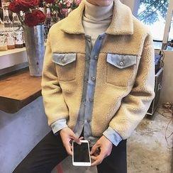 JORZ - Denim Panel Fleece Jacket