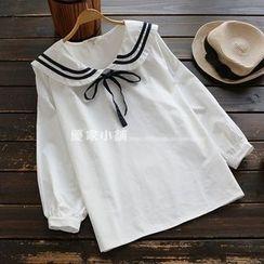 YOYO - 領結帶海軍領上衣