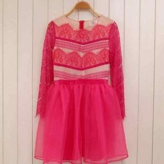 Ando Store - Lace-Panel A-Line Dress