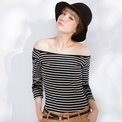 CatWorld - Long-Sleeve Striped T-Shirt