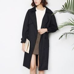 Sens Collection - Double-Breasted Trench Coat with Sash