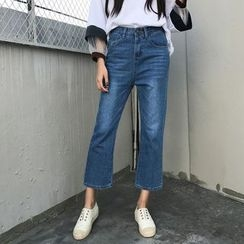 MePanda - High Waist Boot Cut Jeans