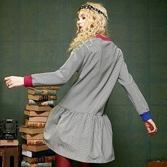 ELF SACK - Long-Sleeve Striped Dress