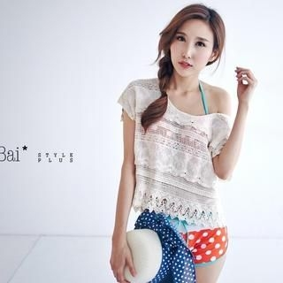 BAIMOMO - Scoop-Neck Lace Top