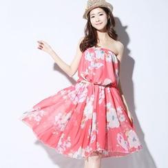 Lina - Floral Print Maxi Chiffon Skirt