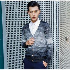 XINNI - 漸變色針織開衫