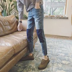 qiaqiayes - Color Block Jeans