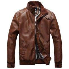 Bingham - Faux Leather Jacket