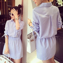 Rocho - 细直条纹衬衫裙