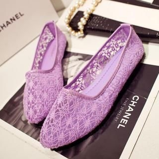 QQ Trend - Sheer Lace Flats