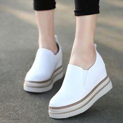 Forkix Boots - Platform Wedge Slip Ons